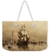 Historic Seaport Schooner Weekender Tote Bag