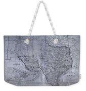 Historic Texas Map Weekender Tote Bag