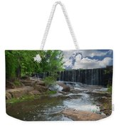 Historic Yates Mill Dam - Raleigh N C Weekender Tote Bag