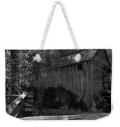 Historical 1868 Cades Cove Cable Mill In Black And White Weekender Tote Bag