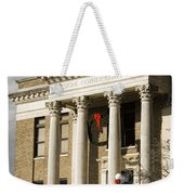 Historical Athens Alabama Courthouse Christmas Weekender Tote Bag