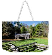 Historical Cantilever Barn At Cades Cove Tennessee Weekender Tote Bag by Kathy Clark