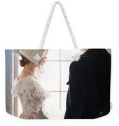 Historical Couple Standing By A Window Weekender Tote Bag