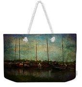 Historical Harbor Woudrichem The Netherlands Weekender Tote Bag