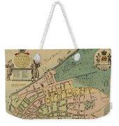 Historical Manhattan Map 1728 Weekender Tote Bag