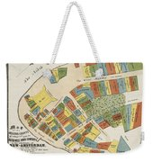 Historical Map Of Manhattan Weekender Tote Bag