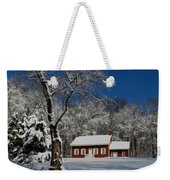 Historical Society House In The Snow Weekender Tote Bag