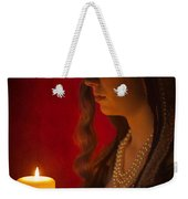 Historical Woman Holding A Candle Weekender Tote Bag