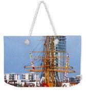 Hms Warrior Portsmouth Weekender Tote Bag by Terri Waters
