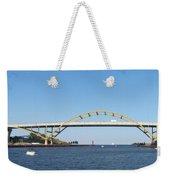 Hoan Bridge Boats Light House 4 Weekender Tote Bag