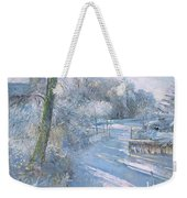 Hoar Frost Morning Weekender Tote Bag by Timothy  Easton