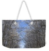 Hoar Frost On Campground Road Weekender Tote Bag