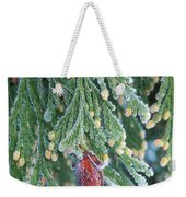 Hoarfrost On Pine Bough Yosemite National Park Weekender Tote Bag