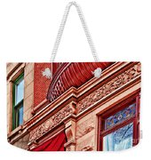 Hoboken Brownstone Art Weekender Tote Bag