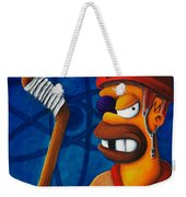 Hockey Homer Weekender Tote Bag by Marlon Huynh