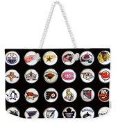 Hockey League Logos Bottle Caps Weekender Tote Bag