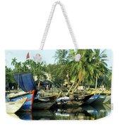 Hoi An Fishing Boats 01 Weekender Tote Bag