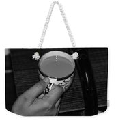 Holding A Full Cup Of Hot Tea Weekender Tote Bag