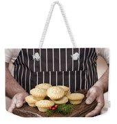 Holding Mince Pies Weekender Tote Bag