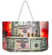 Holding The Financial Fort Weekender Tote Bag
