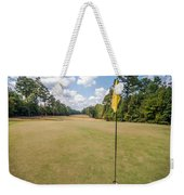 Hole Flag At A Golf Course Weekender Tote Bag