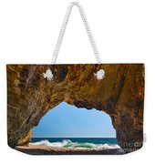 Hole In The Wall - Natural Tunnel In Santa Cruz Weekender Tote Bag