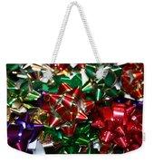 Holiday Bows Weekender Tote Bag
