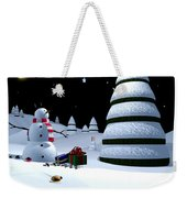Holiday Falling Star Weekender Tote Bag by Cynthia Decker