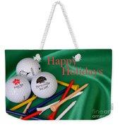 Holiday Golf Weekender Tote Bag
