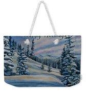 Happy Holidays - Winter Landscape Weekender Tote Bag