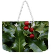 Holiday Holly Weekender Tote Bag
