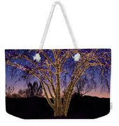 Holiday Lights Weekender Tote Bag