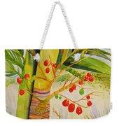 Holiday Palm Weekender Tote Bag