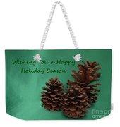 Holiday Pine Cones Weekender Tote Bag