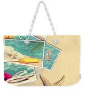 Holiday Postcards Weekender Tote Bag by Amanda Elwell
