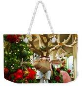 Holiday Reindeer Weekender Tote Bag