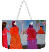 Holiday Shoppers On Prince Island Weekender Tote Bag