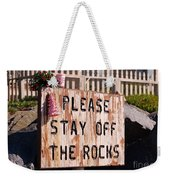 Holiday Straight Up Weekender Tote Bag by Laurie Lundquist