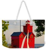 Holland Lighthouse Weekender Tote Bag