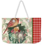 Holly And Berries-a Weekender Tote Bag
