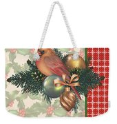 Holly And Berries-c Weekender Tote Bag