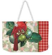 Holly And Berries-d Weekender Tote Bag