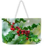 Holly Berries Weekender Tote Bag