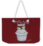 Holly Jolly Cupcakes Weekender Tote Bag