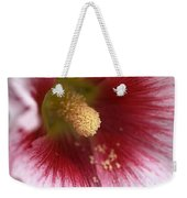 Hollyhock Flower Weekender Tote Bag