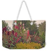 Hollyhocks Weekender Tote Bag