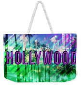 Hollywood Day And Night Weekender Tote Bag