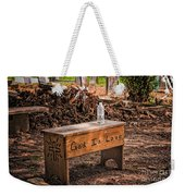 Holt Cemetery - God Is Love Bench Weekender Tote Bag