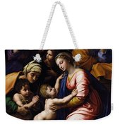 Holy Family Known As The Grande Famille Of Francois I, 1518 Oil On Canvas Weekender Tote Bag