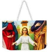 Holy Family With Cross Weekender Tote Bag